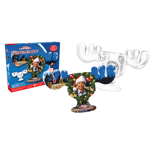 Christmas Vacation Moose Mug & Collage 600pc Double-Sided Puzzle