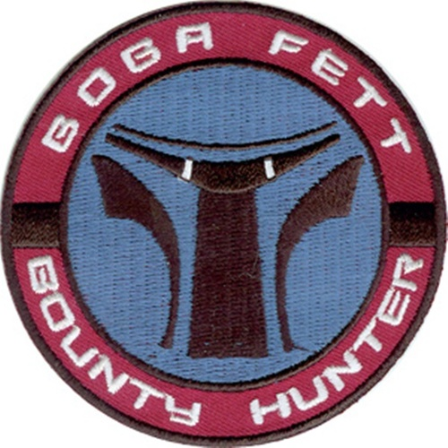 Star Wars Boba Fett Bounty Hunter Logo Embroidered Patch